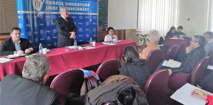 Ședința Colegiului Național al Liderilor, cu participarea ministrului Educației Naționale, Ecaterina Andronescu.