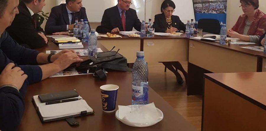 Ședința Biroului Operativ FSLI, cu participarea conducerii MEN