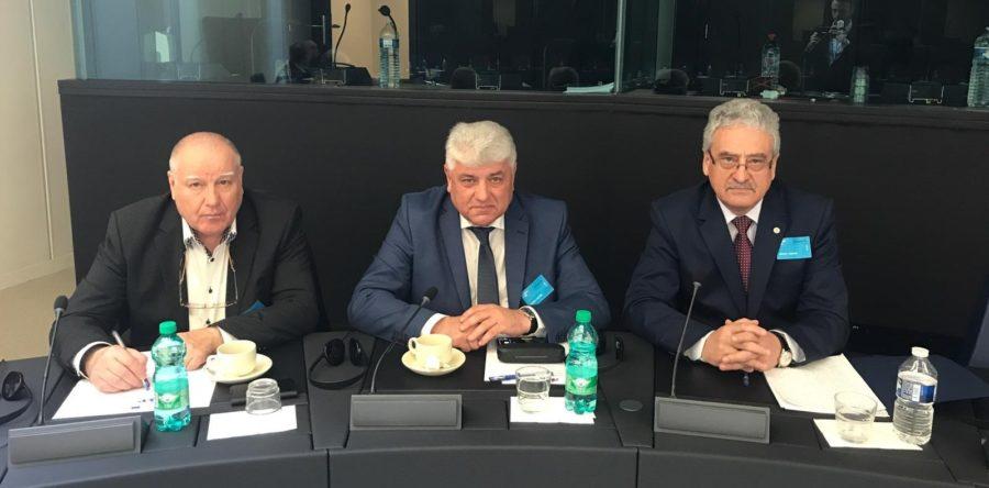 """Președintele FSLI, Simion Hancescu, a participat la dezbaterea """"Identitatea națională și identitatea europeană: complementare sau contradictorii?"""" – Strasbourg"""
